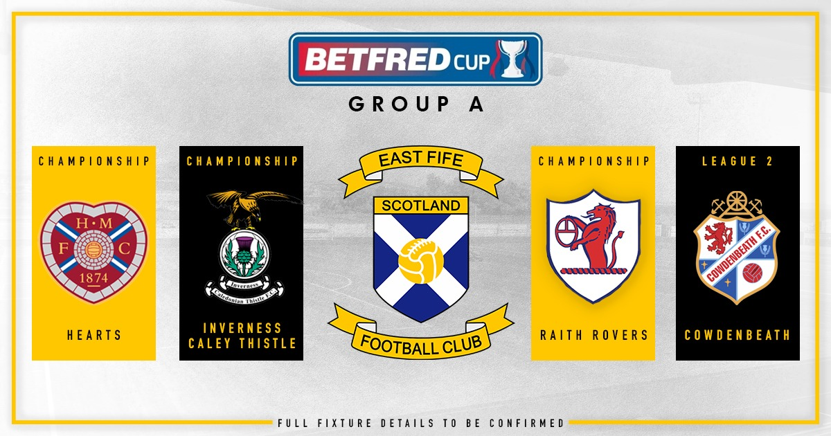 Betfred Cup Group Draw 2020
